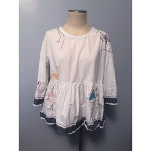 [Anthropologie] Holding Horses Embroidered Top